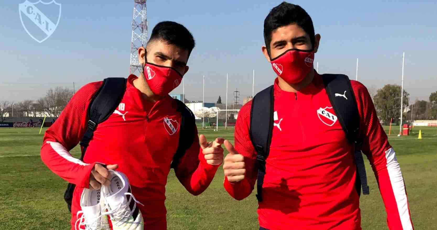 Los futbolistas de Independiente siguen con las prácticas en Domínico