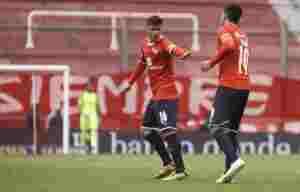 Nicolás Messiniti no pudo ocultar su fanatismo por Independiente.