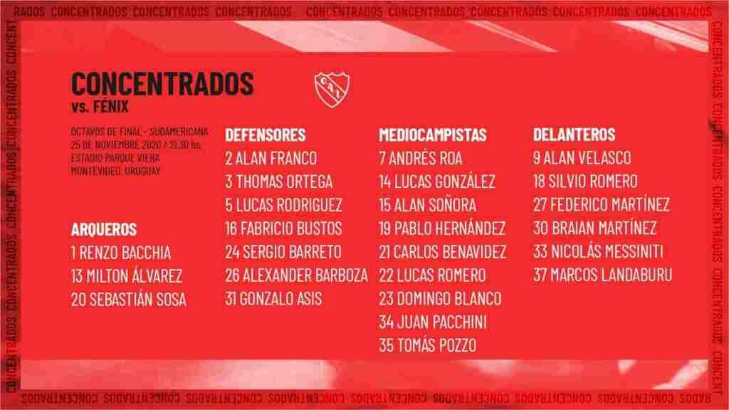Los concentrados de Independiente para viajar a Uruguay