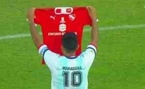El emotivo homenaje de Independiente para Maradona