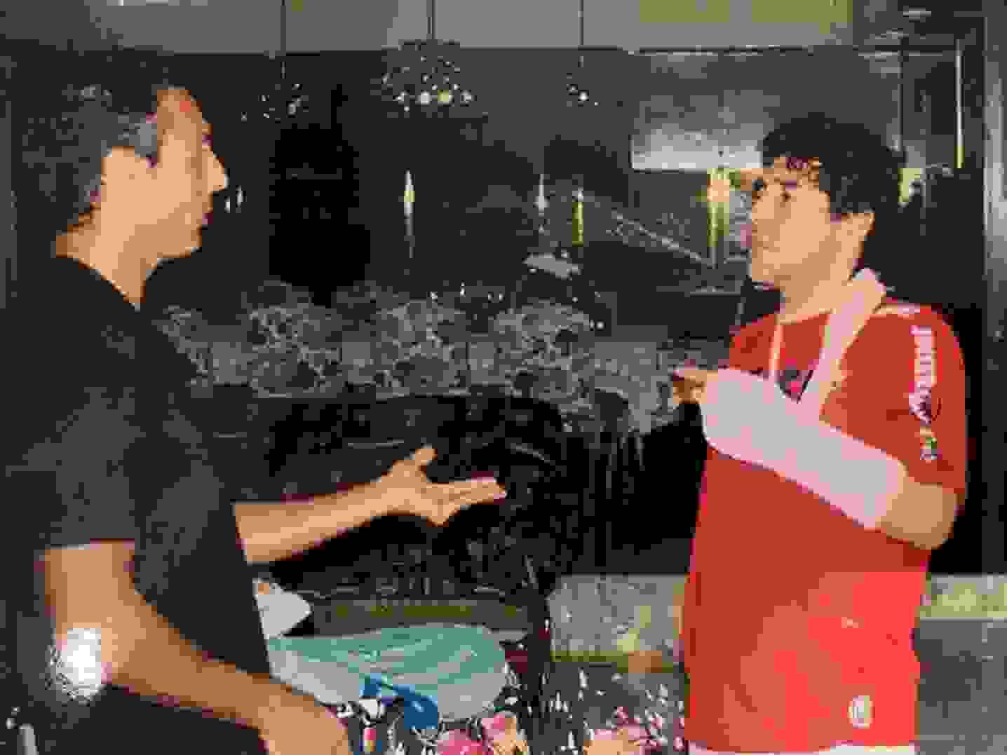Gustavo López compartió unas fotos inéditas con Maradona