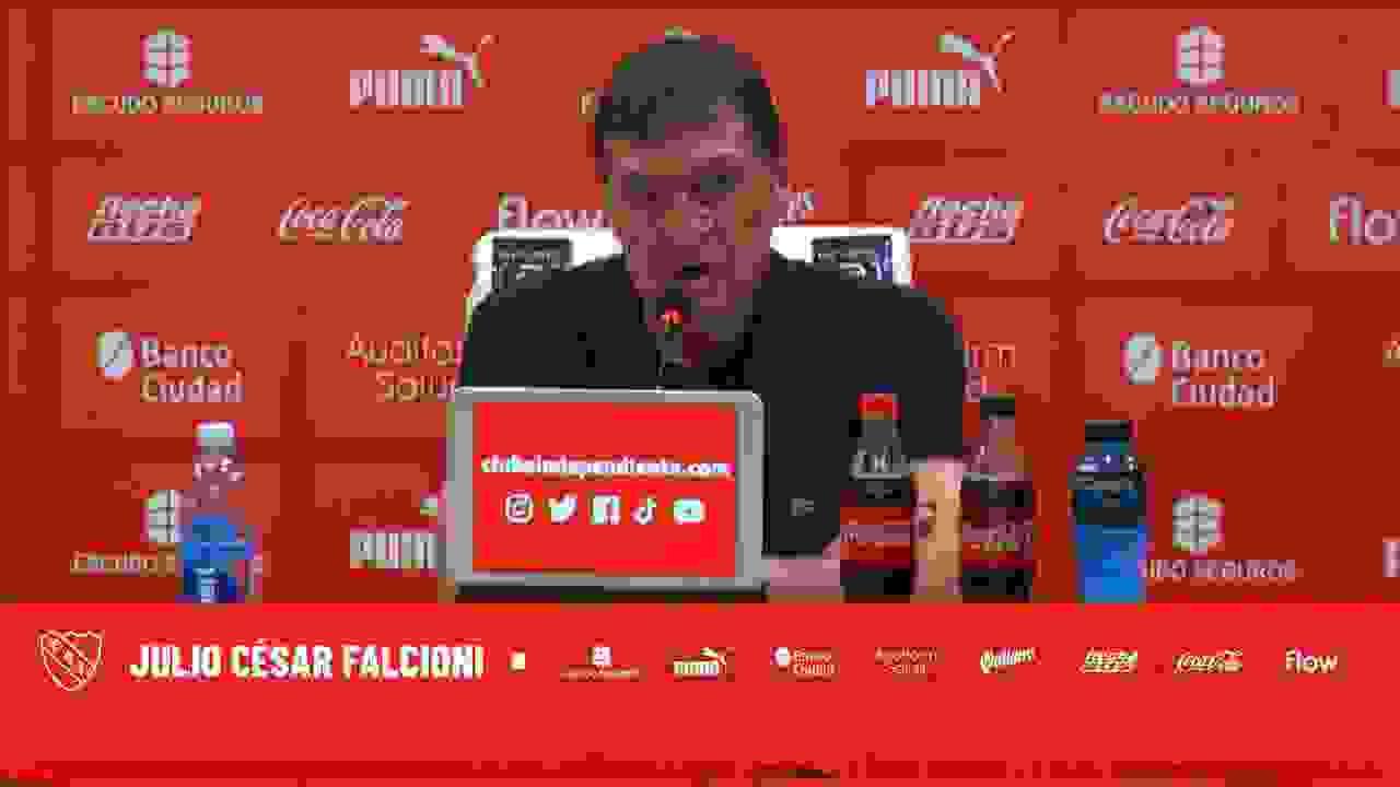 """Julio Falcioni: """"No pudimos jugar lo que pretendíamos"""""""