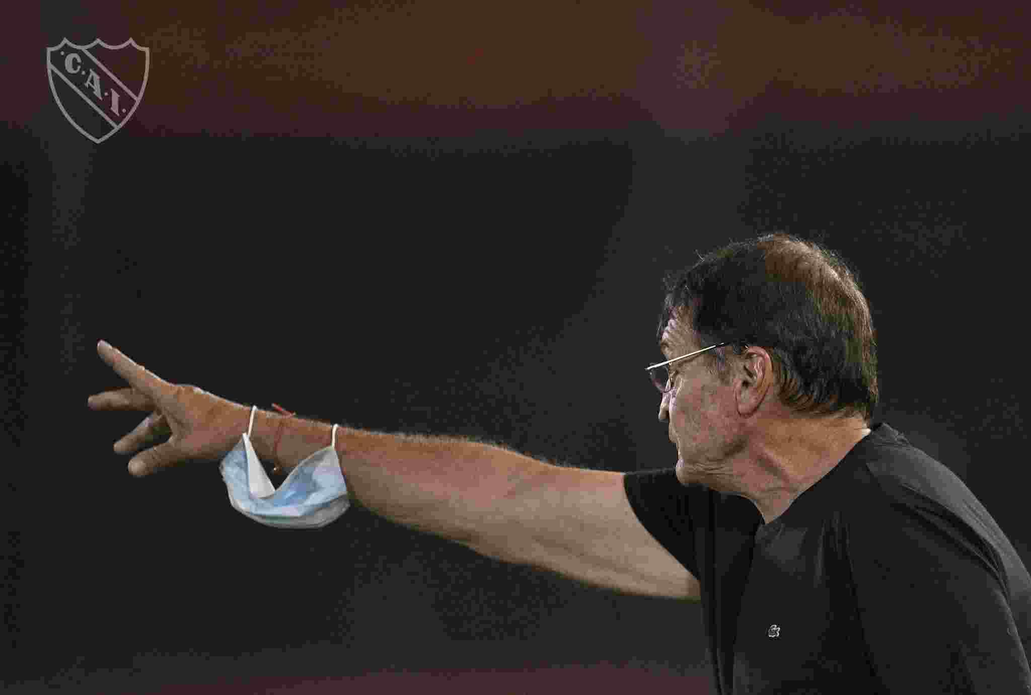 Julio César Falcioni destacó la actuación de Independiente en los últimos encuentros