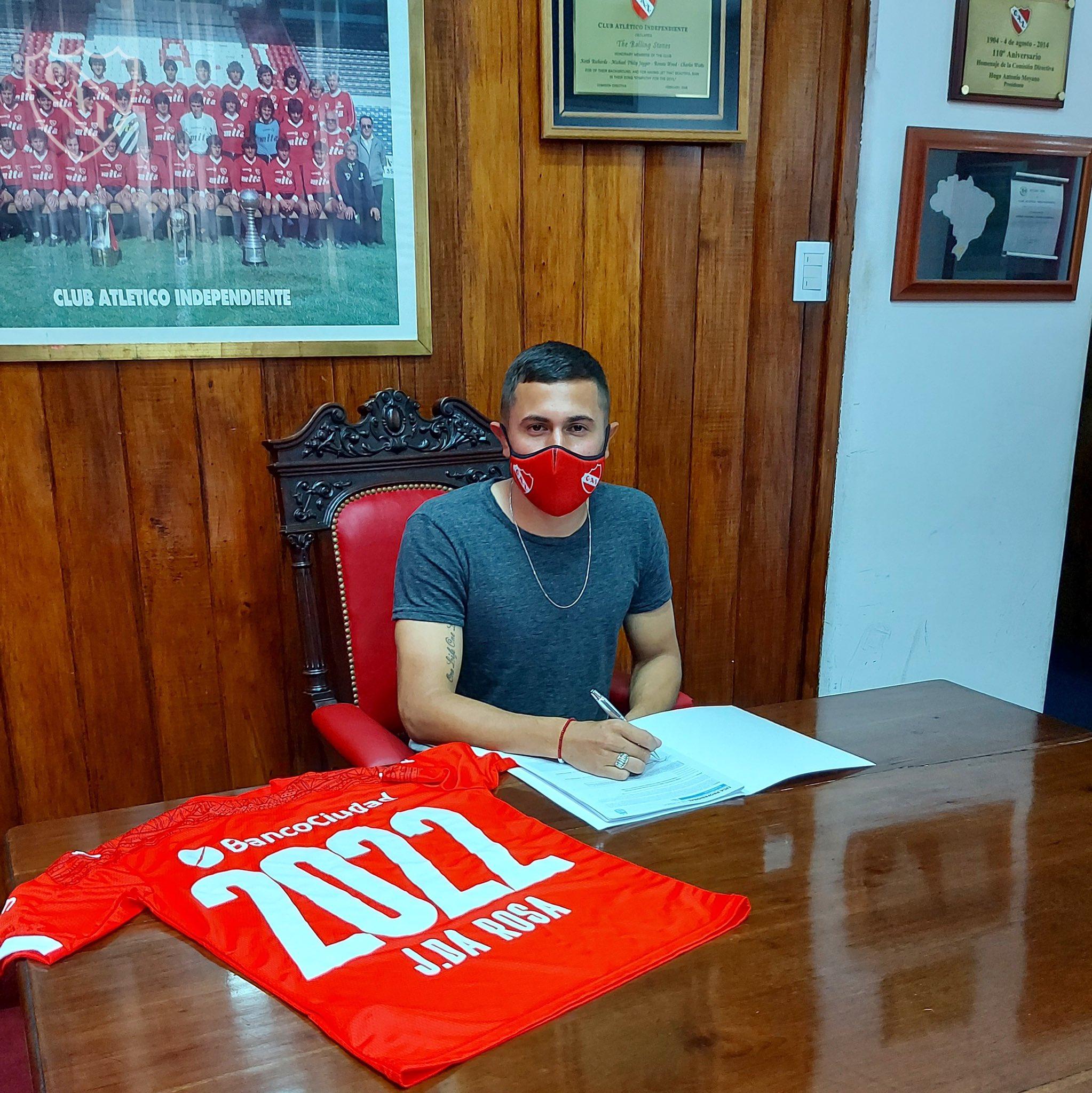Juan da Rosa también renovó su contrato con Independiente hasta 2022