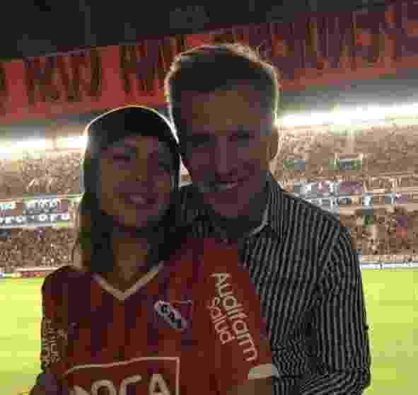 Martín Redrado junto con su hija en el LDA