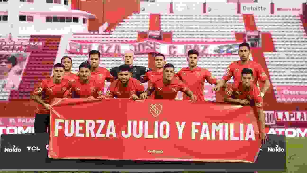 Los futbolistas de Independiente le enviaron mucha fuerza a Julio Falcioni