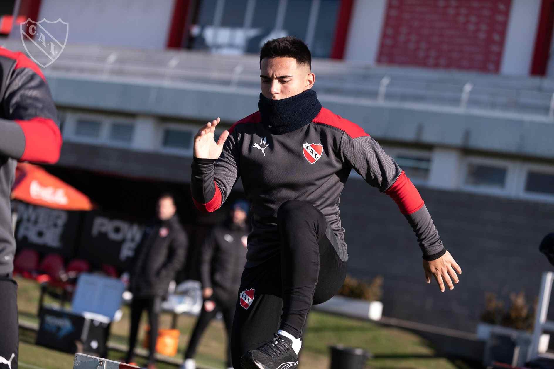 Lucas González se prepara en Villa Domínico para afrontar una nueva temporada.