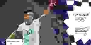 Esequiel Barco fue la figura de la Selección Argentina.