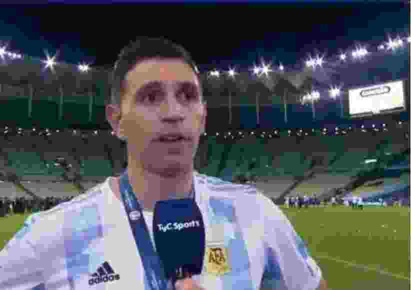 """Dibu Martínez quebró en llanto: """"Era un sueño que tenia de chico"""""""