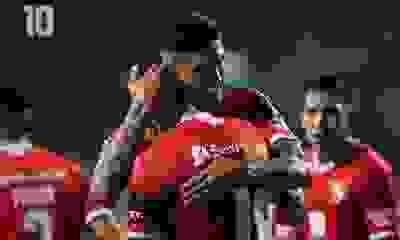 Tucu Hernández durante su paso por Independiente