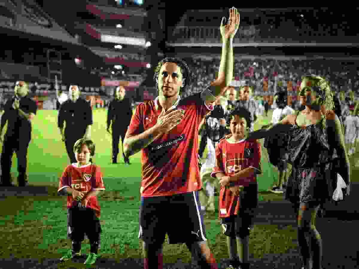 En su partido de despedida con la camiseta de Independiente, Milito estuvo acompañado por toda su familia.