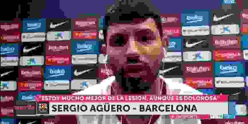 El Kun Agüero rompió el silencio desde España
