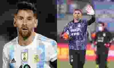 """Lo dijo Messi: """"El Dibu Martínez es uno de los mejores arqueros del mundo"""""""