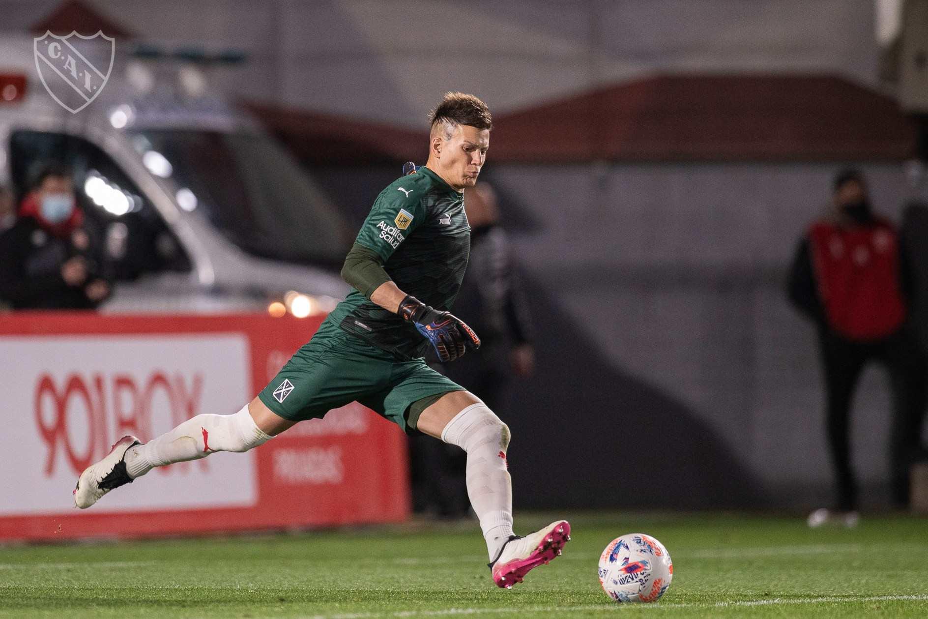 Sebastián Sosa se presentó ante la gente de Independiente el último lunes en el duelo ante el Lobo.