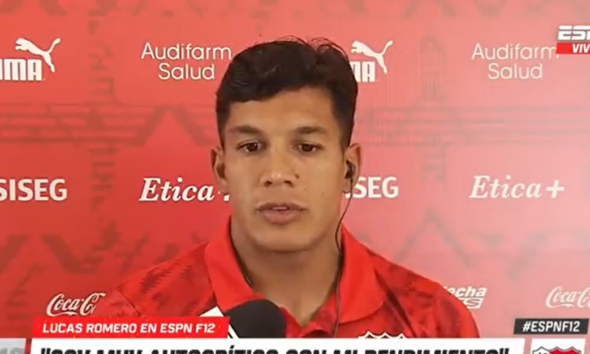 """Lucas Romero: """"Soy muy autocrítico conmigo mismo"""""""